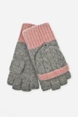 Перчатки-варежки шерстяные Лили