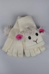 Перчатки-варежки Пушистая овечка