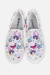 Слипоны женские Нежные бабочки