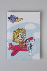 Обложка для паспорта Веселая летчица