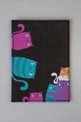 Обложка для паспорта Яркие котики