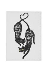 Обложка для паспорта Черные кошки