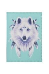 Обложка для паспорта Белый волк