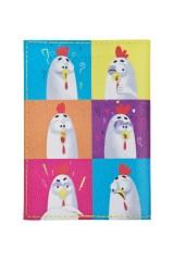 Обложка для паспорта Поп-петухи