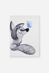 Обложка для паспорта Волчонок