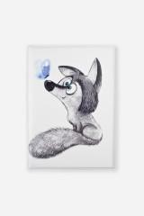 Обложка для автодокументов Волчонок