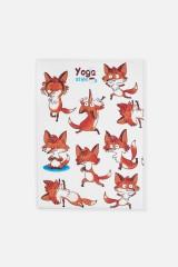 Обложка для паспорта Йога-лисы