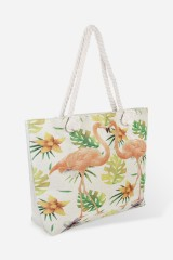 Сумка пляжная Фламингос