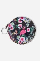 Кошелек для мелочи Фламинго в цветах