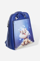 Сумка-рюкзак Кот в бабочках