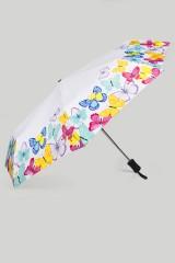 Зонт складной Разноцветные бабочки