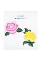 Набор текстильных нашивок Розы