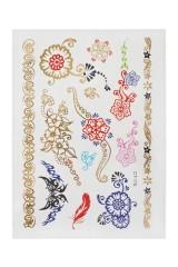 Набор тату-наклеек для тела Цветные сны