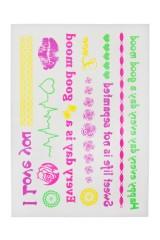 Набор тату-наклеек для тела Я люблю тебя