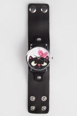 Часы Кошка с бантиком