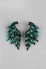 Серьги Цветные крылья