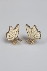 Серьги Две бабочки