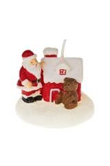 Свеча Дед Мороз у домика