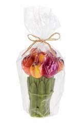 Свеча Букет из тюльпанов