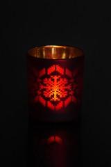 Подсвечник для свечи-таблетки Новогодние узоры