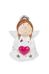 Подсвечник для свечи-таблетки Ангелочек в звездах