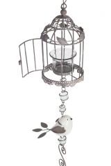 Подсвечник для свечи-табл. Птичка и клетка