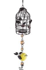 Подсвечник для свечи-таблетки Птичка и клетка