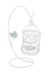 Подсвечник для свечи-таблетки Птичка с клеткой