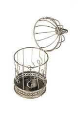 Подсвечник для свечи-таблетки Птичка на золотой клетке