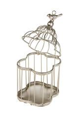 Подсвечник Птичка на золотой клетке
