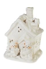 Подсвечник для свечи-таблетки Мишки у домика