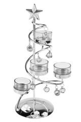 Подсвечник для 4-х свечей-таблеток Прекрасная елка