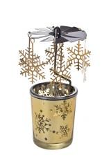 Подсвечник для свечи-таблетки Снежинки