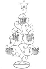 Подсвечник для 5-ти свечей-таблеток Праздничная елочка