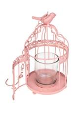 Подсвечник для свечи-таблетки Клетка с птицей