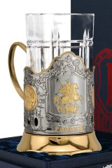 Набор для чая с подстаканником Георгий Победоносец