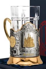 Набор для чая с подстаканником Храм Василия Блаженного