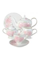 Чайный сервиз Розовые цветы