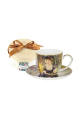 Чайная пара Дама за столиком