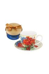 Чайная пара Натюрморт с красными маками и ромашками (Ван Гог)