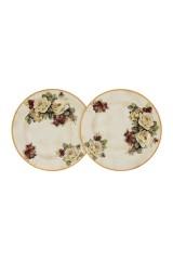 Набор тарелок Роза и малина