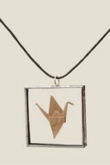 Кулон Журавль оригами
