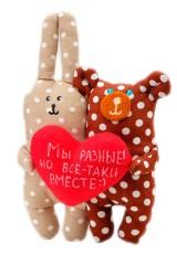 Игрушка Мишка и заяц Мы разные но все-таки вместе