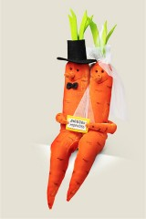 Игрушка Любовь морковь Свадебная