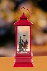 Декоративный фонарь с эффектом снегопада Дед Мороз