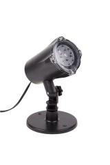 LED проектор, 220В Белые снежинки