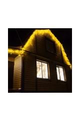 Гирлянда 4,8х0,6 м, 176LED, цвет  Жёлтый Айсикл