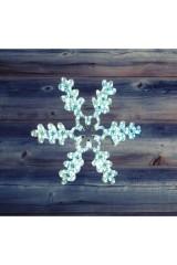 Фигура световая цвет белый Снежинка резная