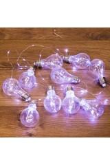 Гирлянда светодиодная 3м, 100 LED, цвет тёплый белый Ретро-лампы