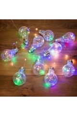 Гирлянда светодиодная 3м, 100 LED, разноцветная Ретро-лампы